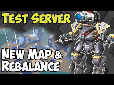 War Robots Test Server 3.7 Gameplay: New Map Castle & Rebalance - WR