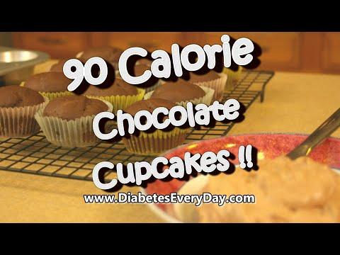 Diabetes Dessert- 90 calorie chocolate cupcakes