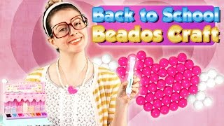 Back to School Beados Craft - DIY Heart Charm Necklace Craft | A Cool School Craft with Crafty Carol