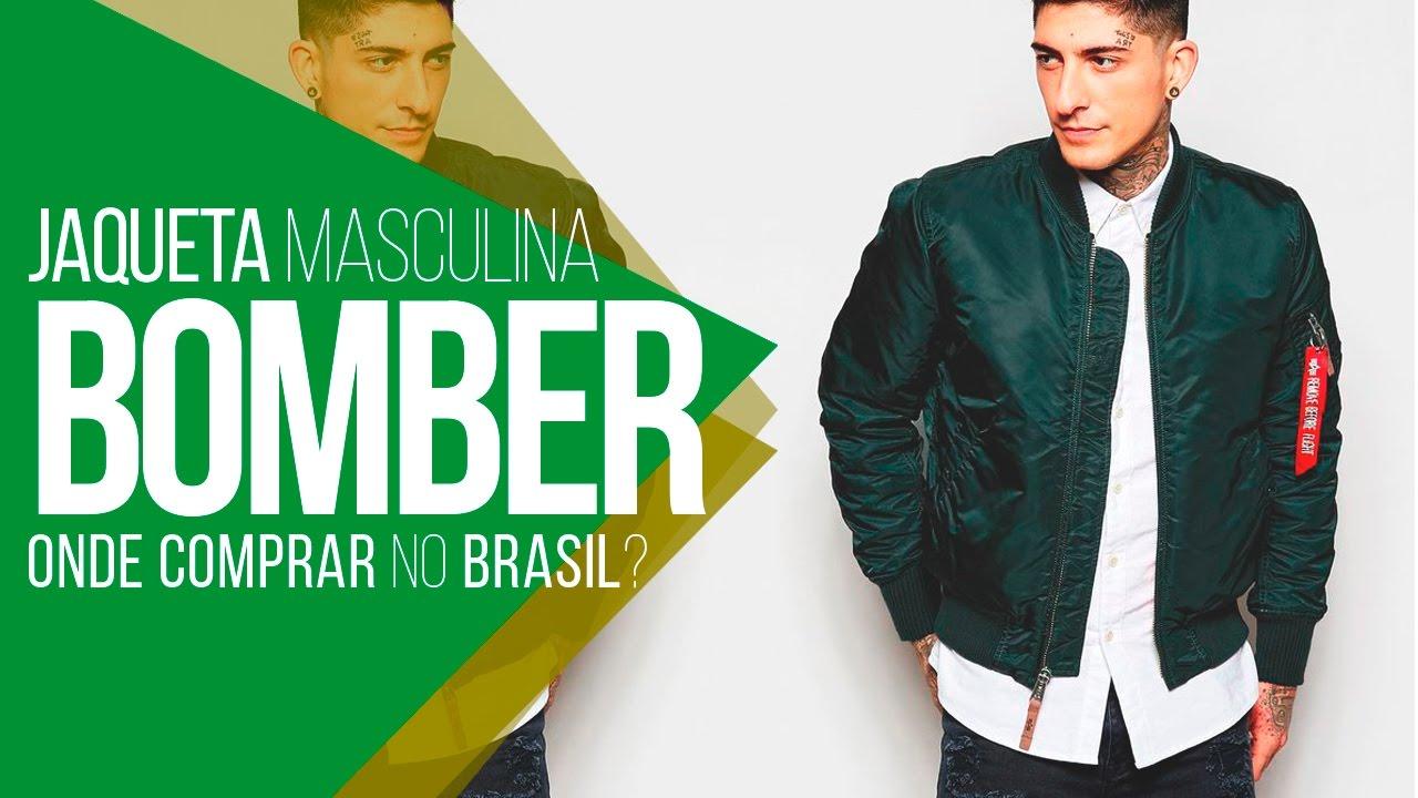 98affdbec 💣 JAQUETA BOMBER: Onde comprar no Brasil? #LojasNacionais 💣 - YouTube