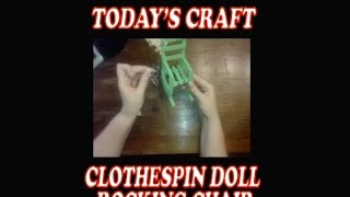 Clothespin Doll Rocking Chair