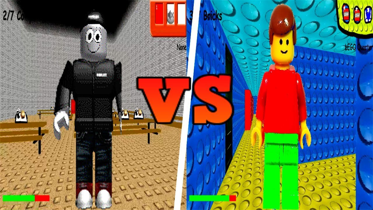 Roblox Vs Lego In Baldi S Basics In Education And Learning Youtube