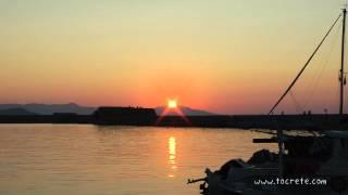 Закат в Ханье, Крит (Sunset in Chania, Crete)(Как-то прогуливаясь вечером в Венецианском порту города Ханья, нам удалось наблюдать и запечатлеть этот..., 2013-07-16T12:27:12.000Z)