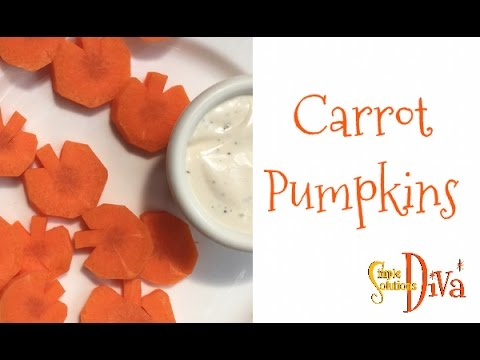 """SimpleSolutionsDiva.com: Get The Kids To Eat Their Carrot """"Pumpkins"""""""