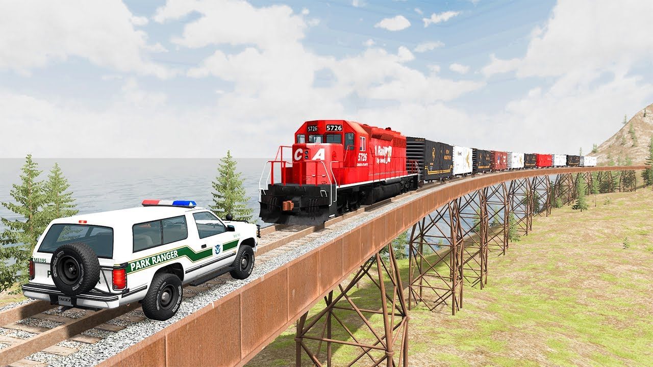 Download Train Accidents #28 - BeamNG DRIVE   SmashChan