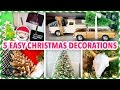 5 EASY DIY CHRISTMAS DECORATIONS! ~ Cute & Festive | @karenkavett