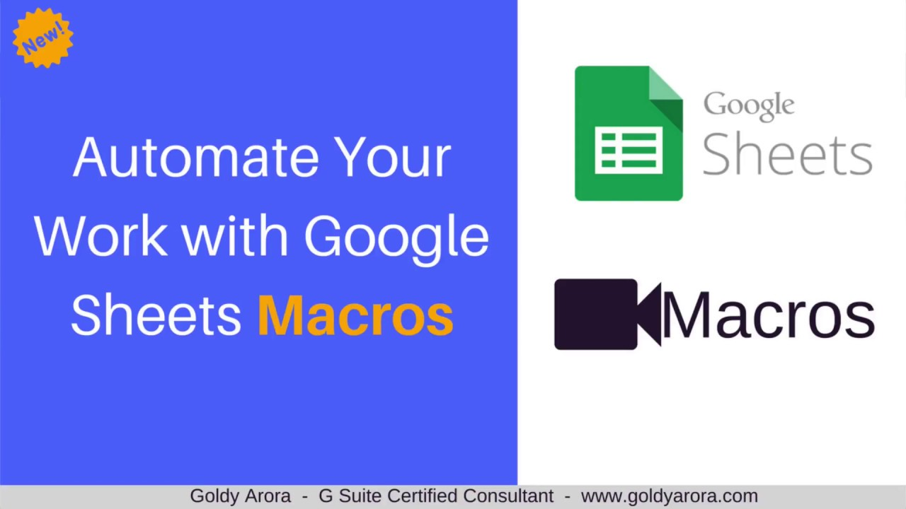 Automate your work with Google Sheets Macros - Record Macros now in Google  Sheets