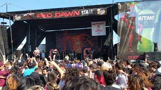 Chelsea grin - playing with fire - live @ vans warped tour in pomona, california 6/21/18