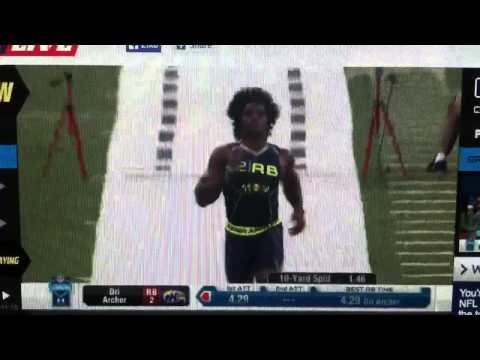 Dri Archer 40-yard dash (4.26 official)