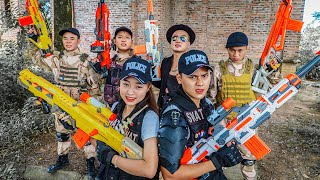 LTT Game Nerf War : Couple Warriors SEAL X Nerf Guns Fight Braum Crazy Rescue People In Distress