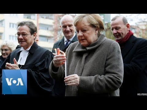 Chancellor Merkel Lights Candles to Mark 30th Anniversary of Fall of Berlin Wall