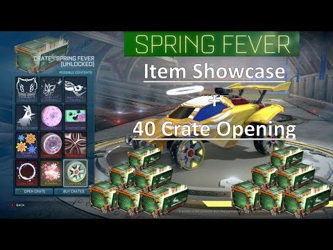 All Spring Fever Event Items + 40 CRATE OPENING!! (Rocket League)