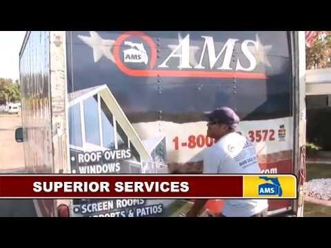The AMS Advantage - Roofing, Windows, Vinyl Siding, Glass & Acrylic Enclosures, Screening & More