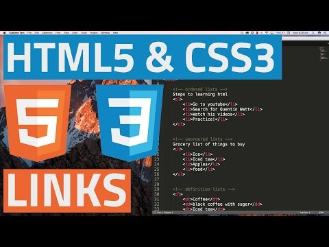 HTML5 And CSS3 Beginner Tutorial 7 - Links