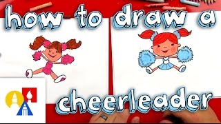 How To Draw A Cartoon Cheerleader