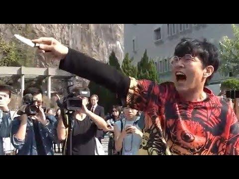 《石涛聚焦》「今日毕业典礼 校长勉励V煞蒙面学子」香港中大毕业生