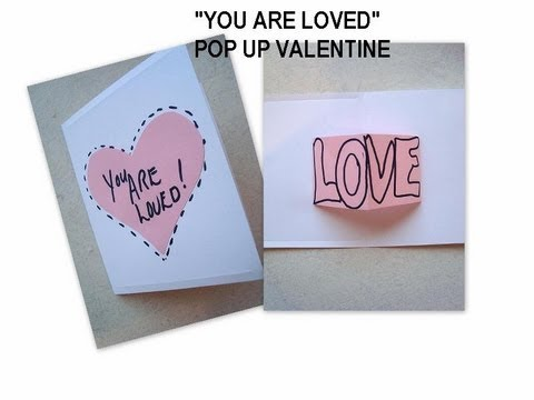 diy VALENTINE Card You Are Loved homemade valentine all – How to Make Valentine Greeting Card