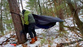 Winter Hammock Camping iฑ Storm Advisory
