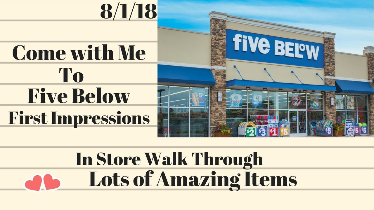 Come With Me To Five Below 8 1 18 Tons Of Amazing Items All 5 Or