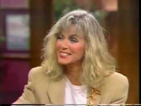 "Donna Mills on the ""Morning Show"" in 1990"