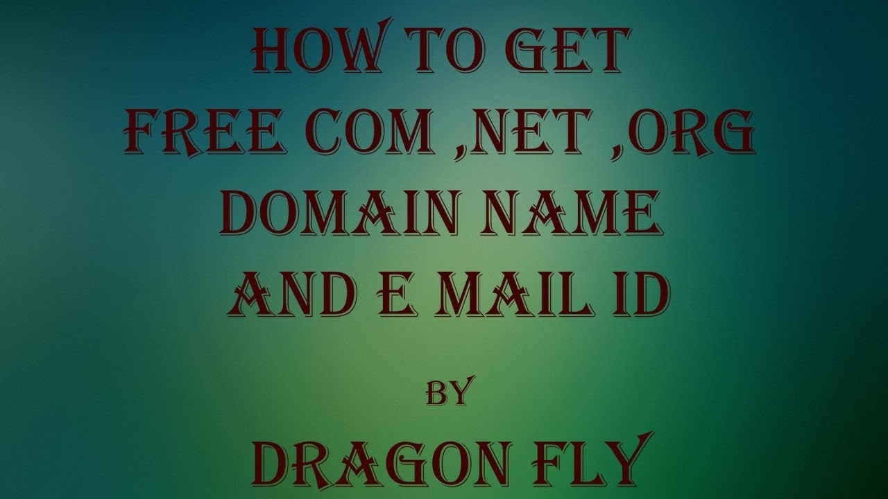 how to create email id with domain name for free