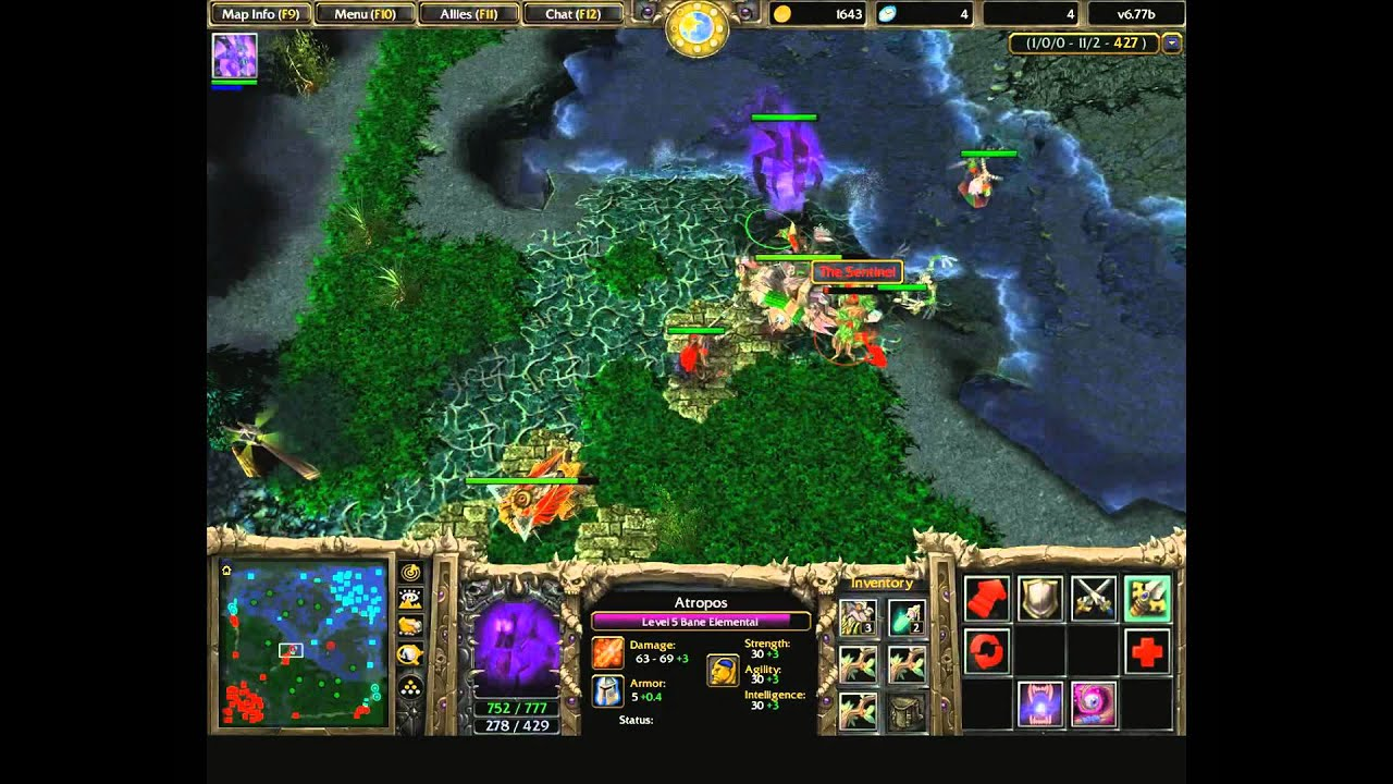 warcraft 3 dota game play iccup youtube