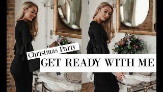 Christmas Party GRWM // My Black & White Festive Style Essentials // Fashion Mumblr AD