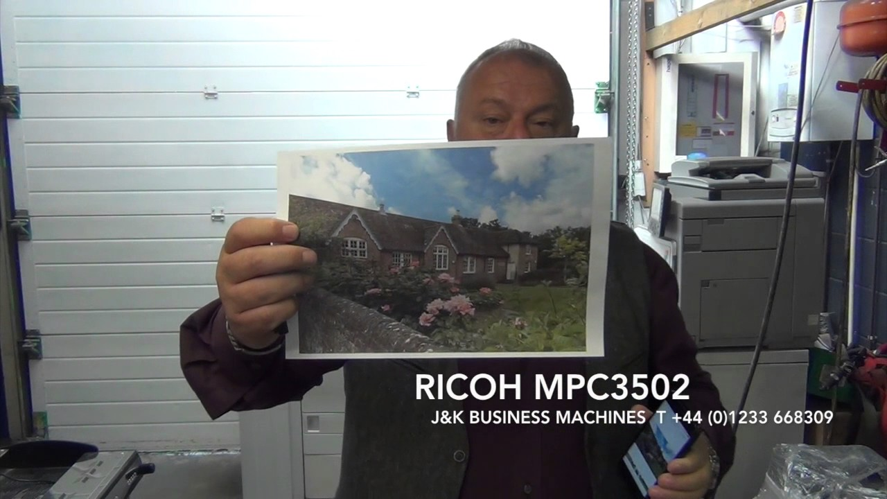 Ricoh MPC3502 printing from air print , colour photocopier printer scanner