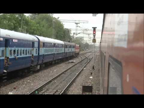 Parallel Departures and High Speed Blast: Mumbai Rajdhani Full Journey I
