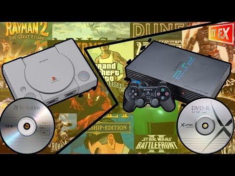 Как записать игры PS1 и PS2 на диск