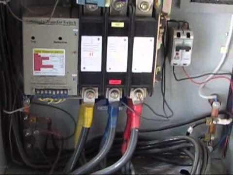 Solar Wiring Diagram With Generator Ge Dryer Wire Transferencia Automática. Prueba De Funcionamiento. - Youtube