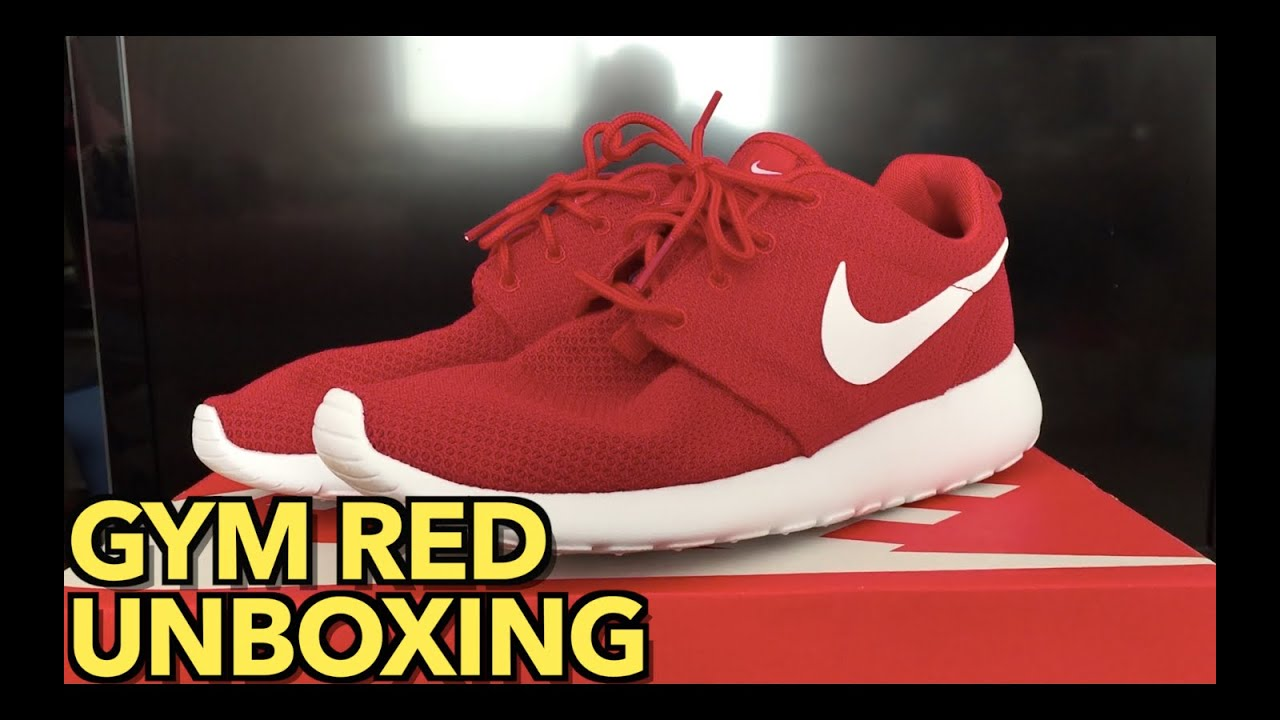 sports shoes 9827f 32a75 ... Roshe One Unboxing   Gym Red - YouTube ...