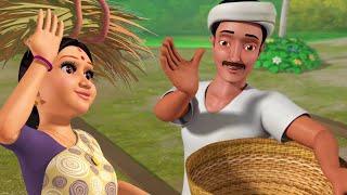 வாழ்க விவசாயி   Pongal Song   Tamil Rhymes for Children   Infobells