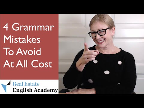 4 Common Grammar Mistakes Real Estate Professionals Should Avoid