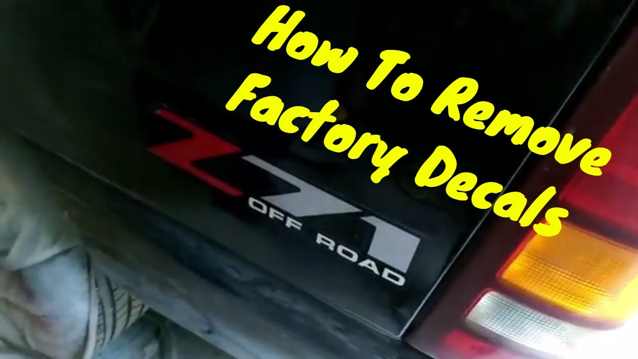 How to remove factory decals off your car or truck do it yourself