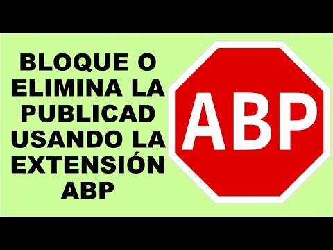 BLOQUE O ELIMINA LA PUBLICAD USANDO LA EXTENSIÓN ABP (ADBLOCK)