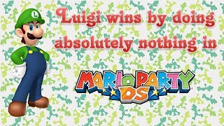 Luigi wins by doing absolutely nothing in Mario Party DS