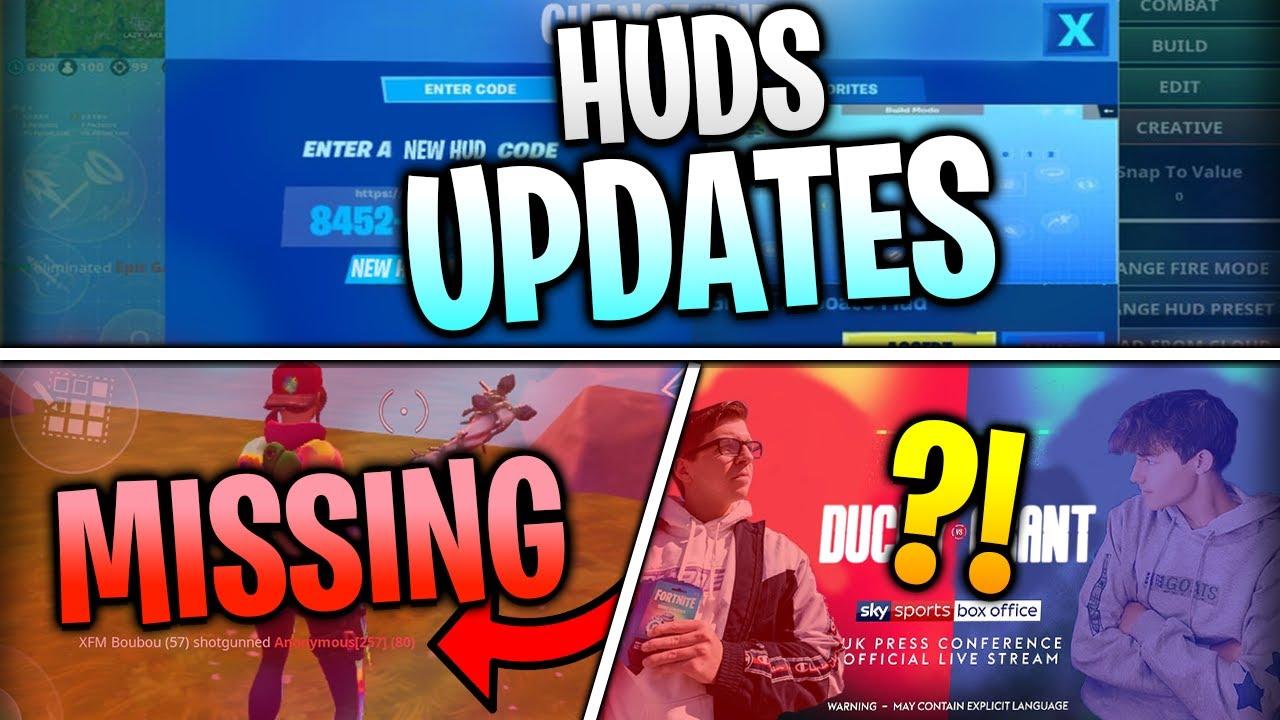 HUD Updates, DuckyTheGamer VS. GrantTheGoat, Missing Killfeed, AND MORE! | Fortnite Mobile News