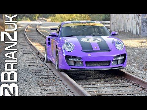 Porsche Turbo on Train Tracks