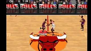 NBA Live 99 - NBA Finals Gameplay Direct from PS1