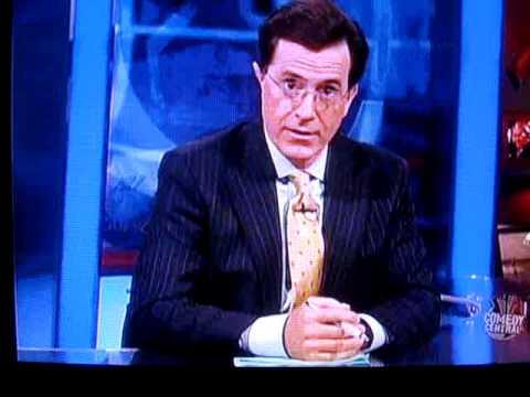 Stephen Colbert talking about Crestor