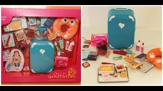 Opening/review Our Generation Luggage Set For American Girl Dolls!