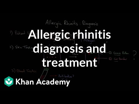 Allergic rhinitis diagnosis and treatment | Respiratory system diseases | NCLEX-RN | Khan Academy