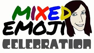 Mixed Emoji 22 - Celebration 🙌🎂🎈🎊🎉💃🕺🎆🎇