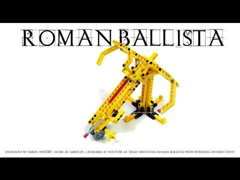 Lego Shooting Roman Ballista With Building Instruction Youtube
