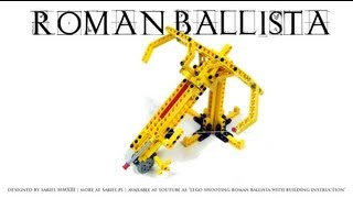 Lego Shooting Roman Ballista With Building Instruction