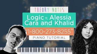 How to play logic ft. alessia cara & khalid - 1-800-273-8255 | theory notes piano tutorial