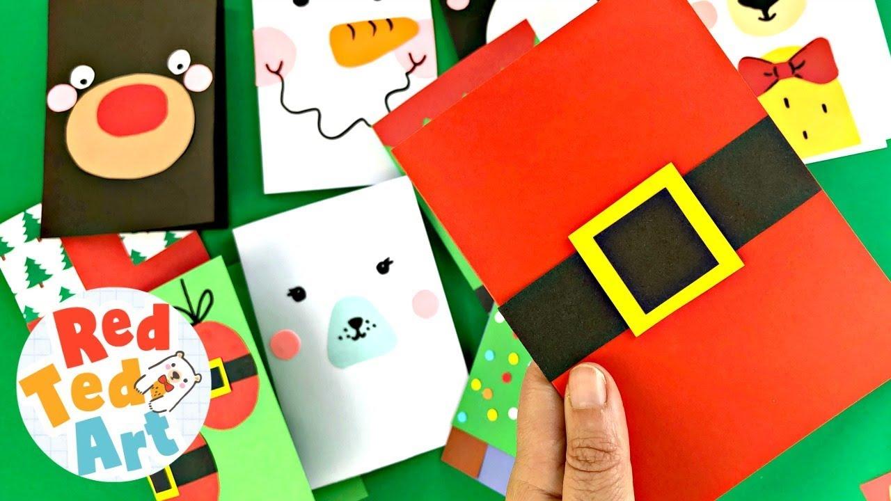 Super Simple Santa Christmas Card Design 5 Minute Card Making Ideas For Christmas