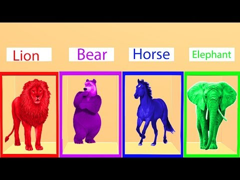 Learn Colors and Animal Names For Children || Nursery Rhymes Collection For Kids thumbnail