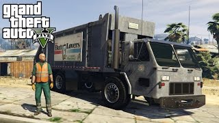 GTA 5 Mods - GARBAGE MAN MOD! San Andreas TrashMaster 0.2 - GTA V PC Gameplay